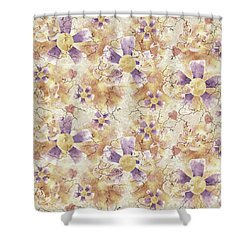Aged Flower Clown Pattern Shower Curtain