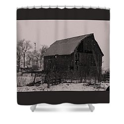 Shower Curtain featuring the photograph Aged  by J L Zarek