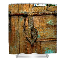 Aged Latch Shower Curtain by Christopher Holmes