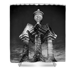 Aged Stone And Sky Shower Curtain