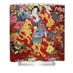 Agemaki Shower Curtain by Haruyo Morita