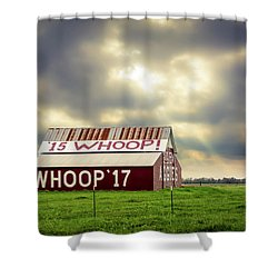 Shower Curtain featuring the photograph Aggie Barn by David Morefield
