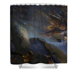 Shower Curtain featuring the photograph Aglow by Ellen Heaverlo