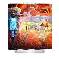 Agoi - The Sheperd Boy Shower Curtain