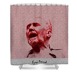 Agony Shower Curtain by Asok Mukhopadhyay