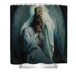 Shower Curtain featuring the painting Agony In The Garden  by Frans Schwartz