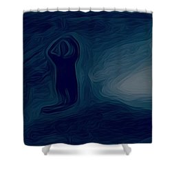 Agony Of The Outside World 1 Shower Curtain