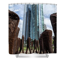 Agora All Proceeds Go To Hospice Of The Calumet Area Shower Curtain