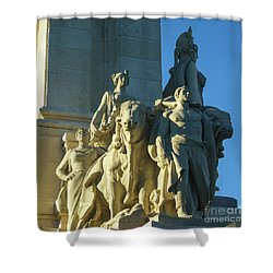 Shower Curtain featuring the photograph Agriculture Allegorie Monument To The Constitution Of 1812 Cadiz Spain by Pablo Avanzini