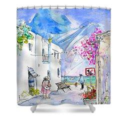 Agua Amarga 06 Shower Curtain by Miki De Goodaboom
