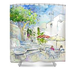 Agua Amarga 10 Shower Curtain by Miki De Goodaboom