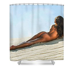 Aguasantas Shower Curtain