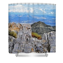 Aguereberry Point Rocks Shower Curtain