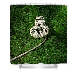 Aguished Leaf Shower Curtain by Douglas Barnett