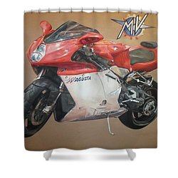 Agusta Shower Curtain by Cherise Foster