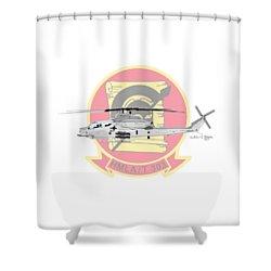 Shower Curtain featuring the digital art Ah-1z Viper by Arthur Eggers