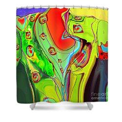 Ah Luvz  Olives Frocks Shower Curtain
