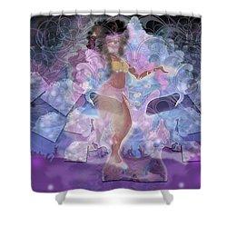 Ahanka Remix Shower Curtain