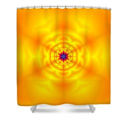 Shower Curtain featuring the digital art Ahau 6 by Robert Thalmeier