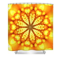 Shower Curtain featuring the digital art Ahau 9 by Robert Thalmeier