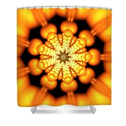 Shower Curtain featuring the digital art Ahau 9.2 by Robert Thalmeier