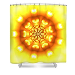 Shower Curtain featuring the digital art Ahau 9.3 by Robert Thalmeier