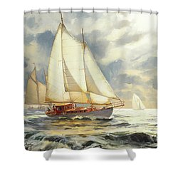Shower Curtain featuring the painting Ahead Of The Storm by Steve Henderson