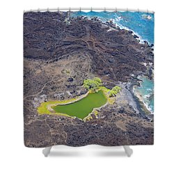 Ahihi Kinau Natural Reserve Shower Curtain by Ron Dahlquist - Printscapes