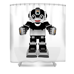 Ai Robot Shower Curtain