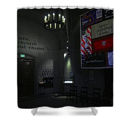Aids Interfaith Memorial Chapel - San Francisco Shower Curtain by Daniel Hagerman