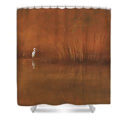 Egret Shower Curtain