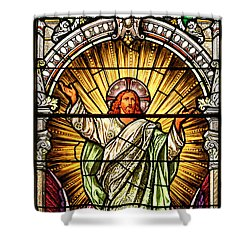 Shower Curtain featuring the photograph Stained Glass Scene 10 Crop by Adam Jewell