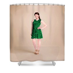 Shower Curtain featuring the digital art Ainsley by Nancy Levan
