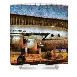 Air - United States Air Force Shower Curtain by Mike Savad