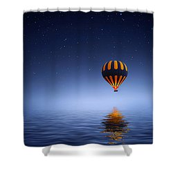 Shower Curtain featuring the photograph Air Ballon by Bess Hamiti