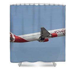 Air Canada Rouge Shower Curtain