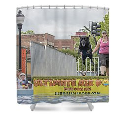 Air Dog 9 Shower Curtain