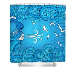 Air Element Shower Curtain by Serena King