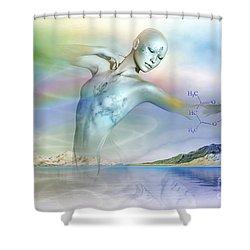 Air Elemental Shower Curtain