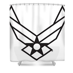 Air Force Logo Shower Curtain