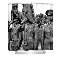 Air Force Memorial - Honor Guard Sculpture Shower Curtain