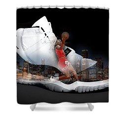 Air Jordan Chicago Shower Curtain