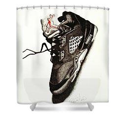 Air Jordan Shower Curtain by Robert Morin
