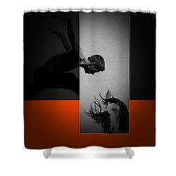 Air Kiss Shower Curtain by Naxart Studio