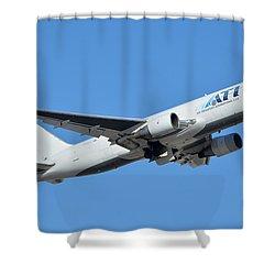 Air Transport International Boeing 767-232 N763cx Phoenix Sky Harbor January 19 2016  Shower Curtain by Brian Lockett