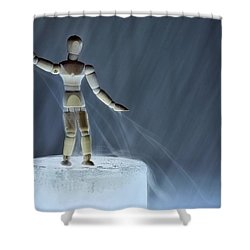 Shower Curtain featuring the photograph Airbender by Mark Fuller