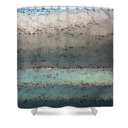 Airborn Blues Shower Curtain by Ellen O'Reilly
