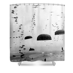 Airborne Mission During Ww2  Shower Curtain