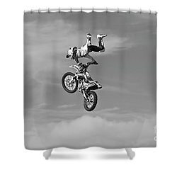 Airborne Motorcycle Shower Curtain