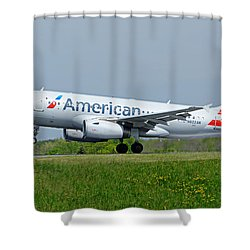Airbus A319 Shower Curtain